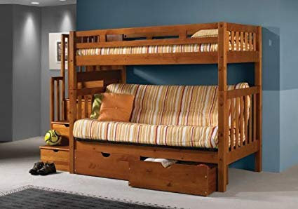 Mission Honey Stairway Bunk Bed